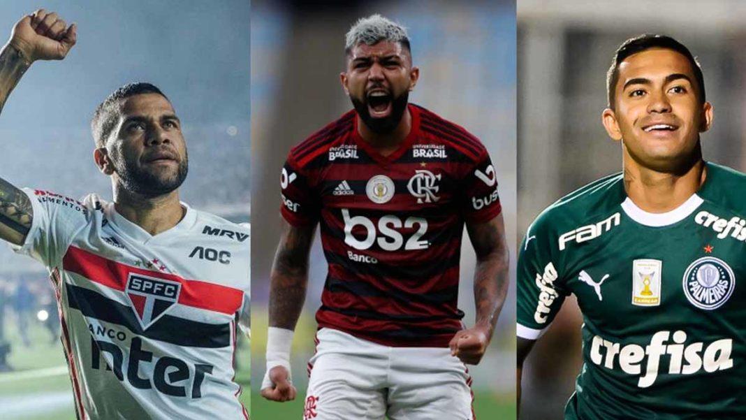 Dani Alves, Gabigol e Dudu os tr~es primeiros maiores salarios do futebol no Brasil